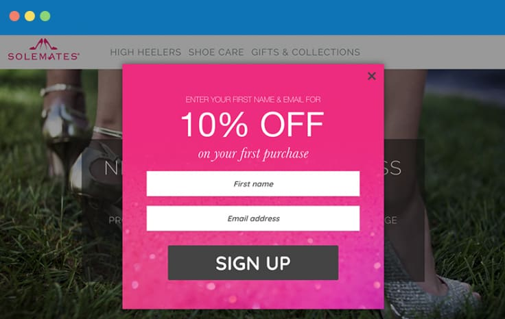 10% off email marketing sign up