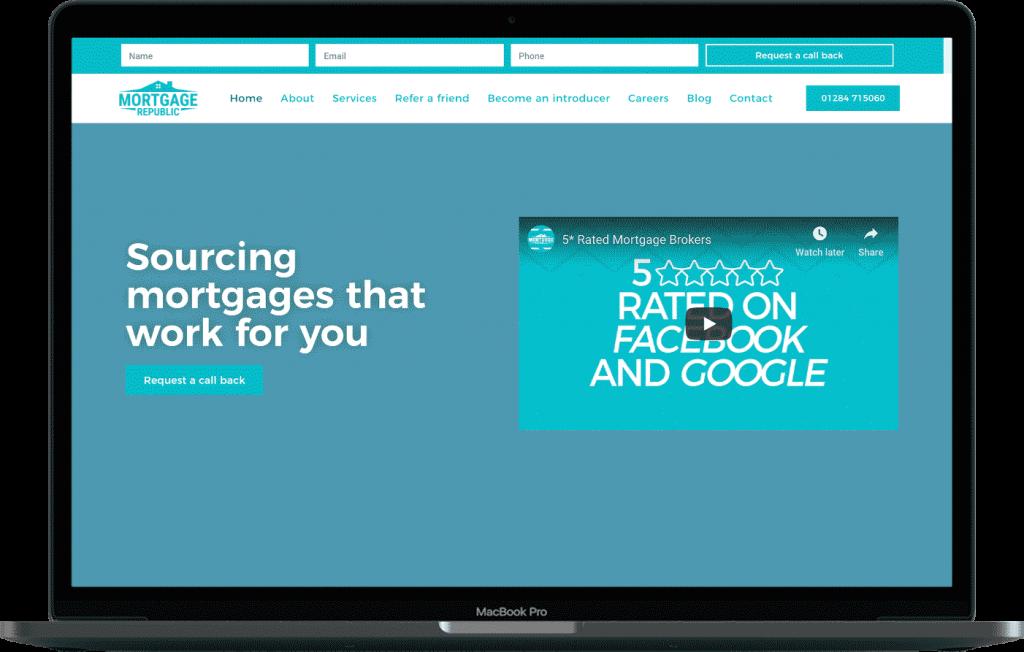 Norfolk Web Design Mortgage Republic Website